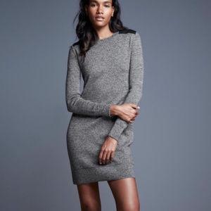 GAP Small Fine Merino Wool Gray Sweater Dress
